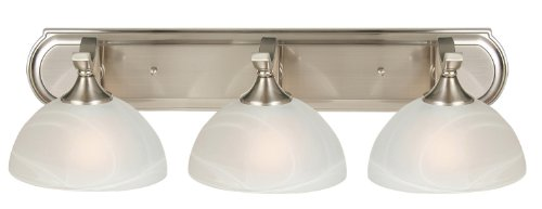 Bathroom Vanity Lights Point Up Or Down : Yosemite Home Decor Glacier Point Bathroom Vanity Light with Ivory Cloud Shades, 3-Light, Satin ...