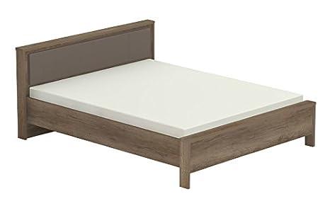 Doppelbett Lepa 17, Farbe: Eiche Dunkelbraun / Braun - Liegefläche: 160 x 200 cm (B x L)