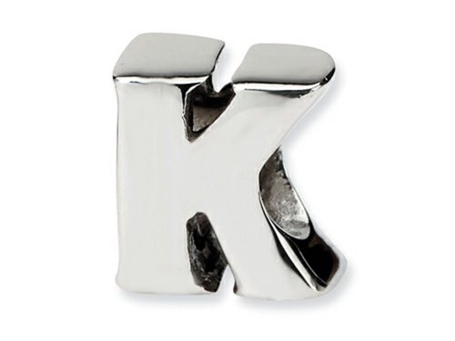 Reflections Sterling Silver Letter K Pandora Compatible Bead / Charm