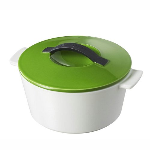 Revolution 642311 10-Inch Round Cocotte With Lid, Lime Green