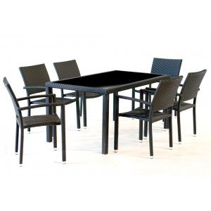 table de jardin 6 places arezzo. Black Bedroom Furniture Sets. Home Design Ideas