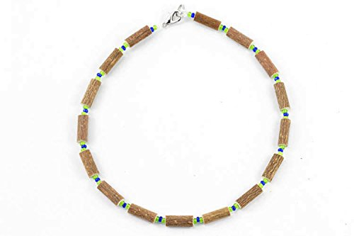 Healing Hazel Hazelwood Baby Necklace, Clear Royal Blue/Apple Green
