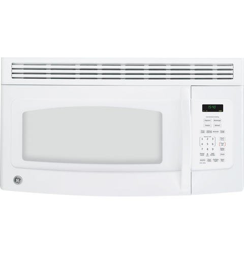 Spacemaker JVM1540DMWW Over-the-Range Microwave Oven with Recirculating Vent in White