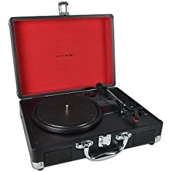 HYPE HY-2004-BCT Briefcase USB Turntable/Vinyl Archiver w/Built-in speakers - Rip Your Old Vinyl to MP3!