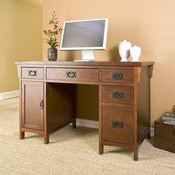 Buy Low Price Comfortable Mission Computer Desk Southern Enterprises Ho8808 (B00278F45Y)