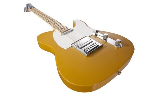 Normandy Alumicaster Electric Guitar, Powder Coated School Bus Yellow With Maple Fretboard