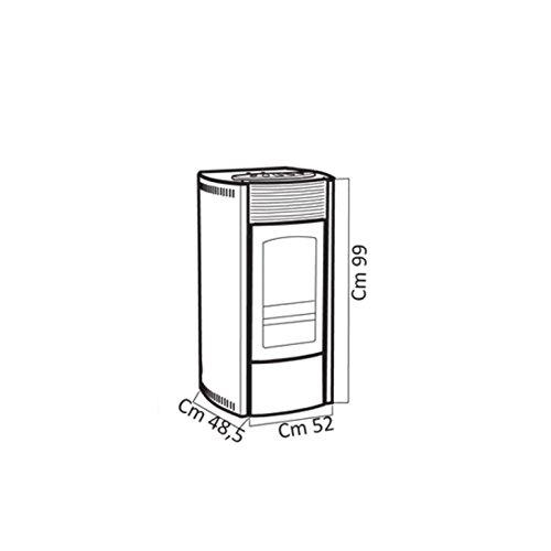 Stufa-a-pellet-La-Castellana-Scintilla-Beige-10-Kw-Acciaio-Cronotermostato-e-Telecomando-Alimentazione-combinata-a-pellet-di-legno-e-nocciolino-di-oliva-tritato-Abbattitore-delle-poveri-sottili-Sistem