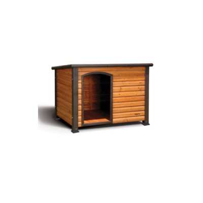"""Outback Log Cabin Dog House Size: Large (46"""" X 33"""" X 33"""") front-900210"""