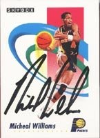 Michael Williams Indiana Pacers 1991 Skybox Autographed Hand Signed Trading Card. by Hall+of+Fame+Memorabilia