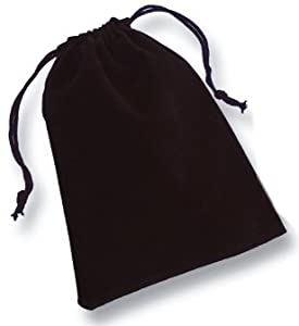 "2 3/4"" x 3 1/4"" Drawstring Pouch, Black"