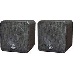 Pyle PYLE 4IN 200W MINI CUBE SPEAKER SPEAKER (Home Audio Video / Speakers- Bookshelf)