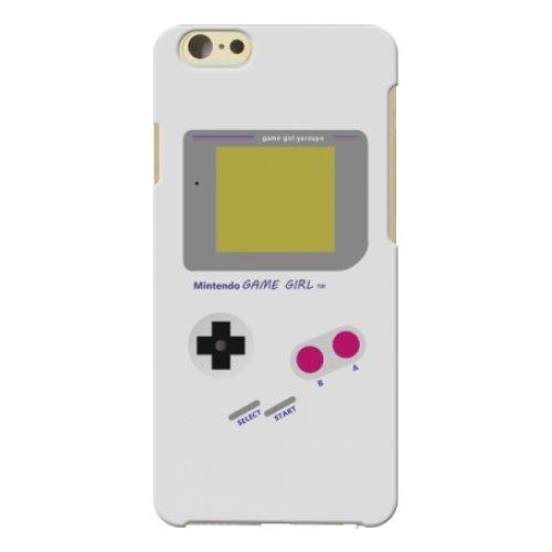 au iPhone6(4.7インチ) ゲームボーイ風 スマホケース スマホ ケース ハード カバー ポリカーボネート q0634-p0221(1-グレー)