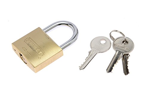 Stanley Solid Brass Standard Shackle Padlock - 40mm