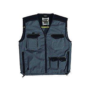 Gamma MACH5Spirito Leggero lavoro gilet gilet giacca gilet, colore: grigio con bordo nero Grey XXX-L/ 119 cm- 124 cm