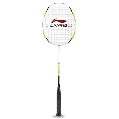 Li-Ning Pro-2500 G-Force Carbon Fiber Badminton Racquet, Size S2 (White/Gold)