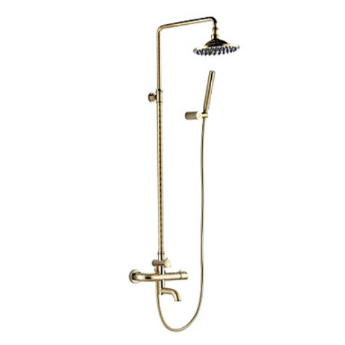 Antique Ti-PVD Finish Solid Brass Three Handles Shower Faucet coupon codes 2015