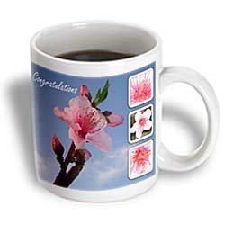 Congratulations - Peach Blossom, blossom, flower,