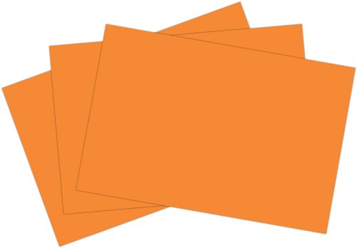 Roselle Vibrant Construction Paper, 50 count, 12 x 18 Inches, Orange (CON15121850) - 1