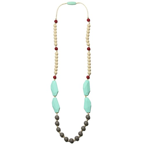 Mama & Little Frida Silicone Baby Teething Necklace for Moms - Nursing Necklace in Sweet Mint - Teething Beads and Baby Teething Toys