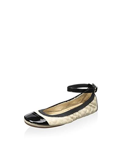 Yosi Samra Women's Abbey Quilted Flat with Ankle Strap