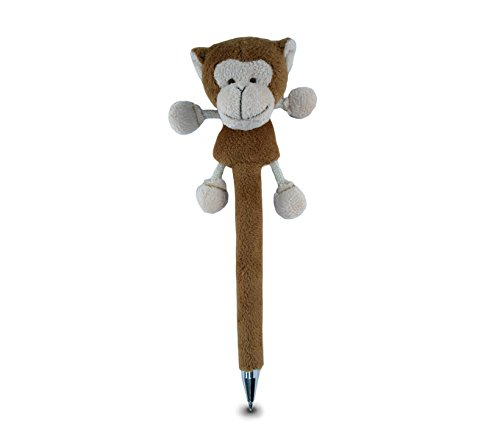 Puzzled Monkey Plush Pen - 1