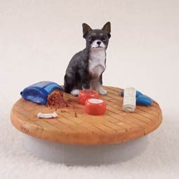 Black & White Chihuahua Candle Topper Tiny One \