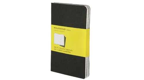 Moleskine Squared Cahier Journal Black Pocket: 