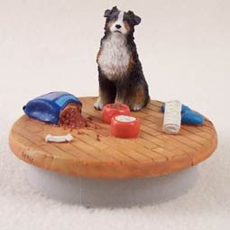 Australian Shepherd Tricolor w/Docked Tail Candle Topper Tiny One A Day at Home (Set of 6) shepherd s life угги shepherd s life slw fox24 sand nordic short песочный