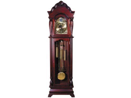 Grandfather Clock with Beveled Glass in Cherry Finish Acs001408