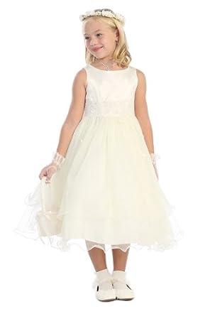 Amazon.com: Kids Dream girls Ivory Double Layer Tulle ... - photo #22