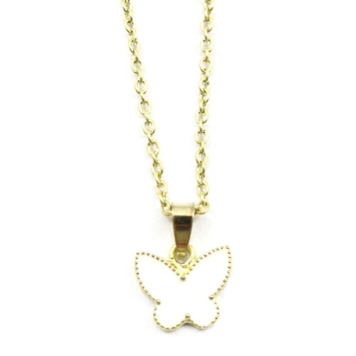 Zehui Fashion White Korean Style Lovely Cute Butterfly Alloy Necklace