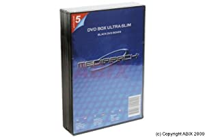 DVD-SlimCase einfach schwarz, 5er Pack