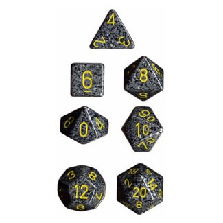 Polyhedral 7-Die Chessex Dice Set - Speckled Urban Camo