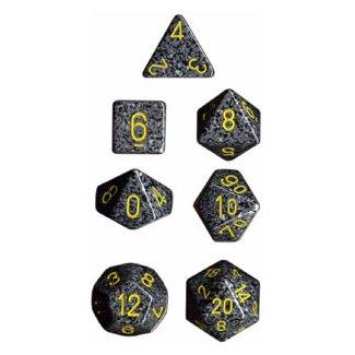 Polyhedral 7-Die Chessex Dice Set - Speckled Urban Camo