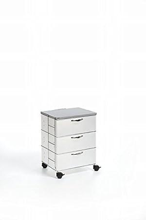 Emporium-Mueble Con Cajones Polipropileno, 3 Cajones Isotta Color Blanco