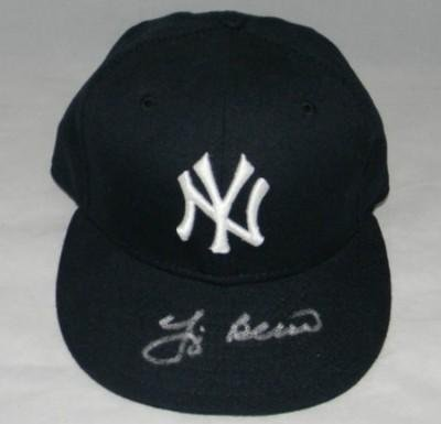 Yogi Berra Signed Autographed New York Yankees Mlb New Era Fitted Hat Cap - JSA Certified - Autographed MLB Helmets and Hats at Amazon.com