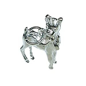 QUALITY UK Sterling Silver Bambi 2.4g Charm 18 x 12mm