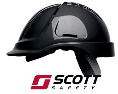 SCOTT PROTECTOR STYLE 600 VENTED SAFETY HELMET HARD HAT- BLACK