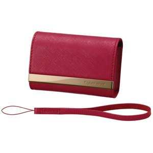 Sony LCS-CSVA/R DSC Leather Carrying Case - Red