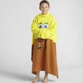 Nickelodeon Northwest Company Spongebob Squarepants, Youth Comfy Throw With Sleeves - 48 In. X 48 In. front-872710