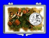 """3″ x 2″ Snaplock Coin Holder for """"1976 Bicentennial Commemorative Quarter"""" (With Uncirculated Coin)"""
