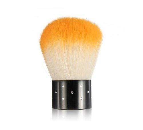 niceeshop(TM) Mini Strasssteine Kosmetik Nagel Art Staubfilter Gesichtsbürste, Orange und Weiß