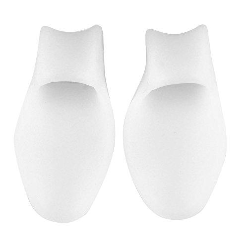 Ayliss® 2pairs Gel De Silicone Oignon Correcteur Orteil Séparateur Protecteur De Redresseur