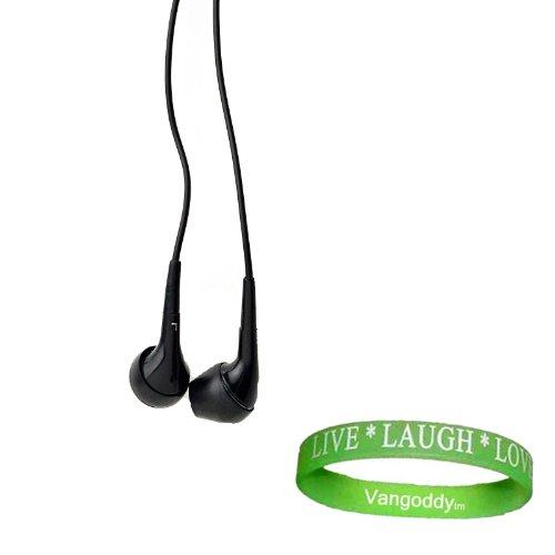 3.5Mm Jack (Black) Perfect Fit Earbud Headphones For Htc Titan Ii (Titan 2) Windows Phone + Vangoddy Live Laugh Love Wristband!!