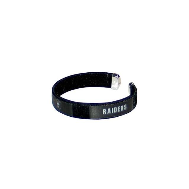 Oakland Raiders NFL Fan Band Cuff Bracelet