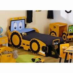 kidsaw my 1st jcb bagger motiv kinderbett mit matratze. Black Bedroom Furniture Sets. Home Design Ideas