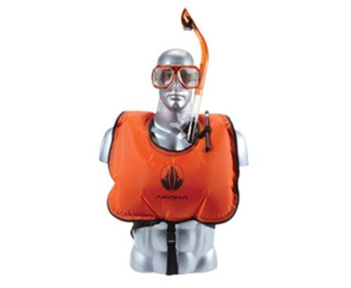 Akona Jr. Snorkel Vest, Neon Orange (AKSV119)