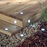 6 WHITE LED Decking Lights. Garden Electric Low Voltageby The Emporium Garden