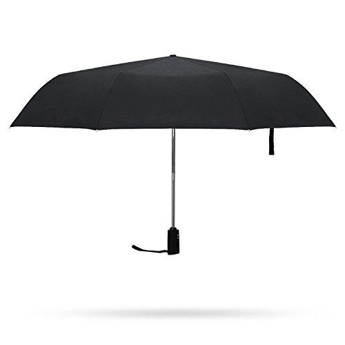 Paraguas Plegable Automático,Hometek Impermeable y Resistente alViento Elegante para Viaje con 21 Inch,Color Negro