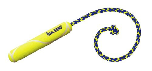 KONG Air Dog Fetch Stick with Rope Dog Toy, Small, Yellow